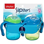 Playtex Sipsters Stage 1 Spill-Proof, Leak-Proof, Break-Proof Soft Spout Sippy Cups - 6 Ounce - 2 Count