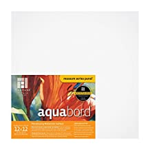 Ampersand Aquabord, for Watercolors, Gouache and Acrylics, 1.5 Inch Cradle 12X12
