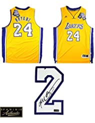 Kobe Bryant Autographed Signed Los Angeles Lakers Adidas Swingman Gold NBA  Jersey - Panini Authentic 39d275ca6