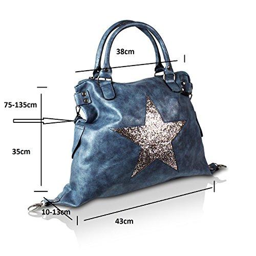 Para Mano Mujer Claro Azul De amp;x Topstyle Cartera G wXR44a
