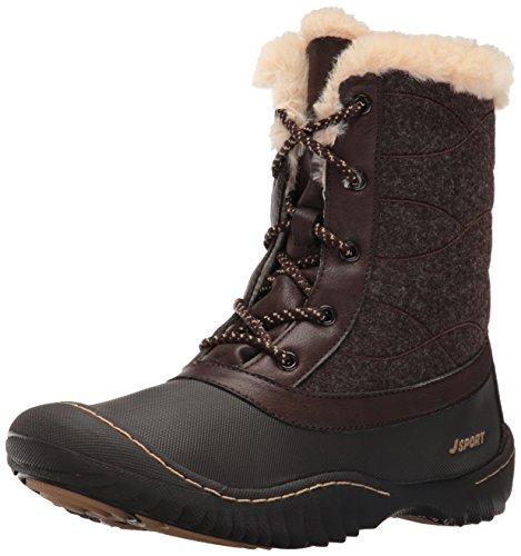 Womens Faux Cold Closed Weather Jambu Autumn Boots Ankle Brown Toe Fur dE06qC