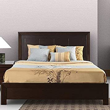 Full Modus Furniture Element Platform Bed Chocolate Brown