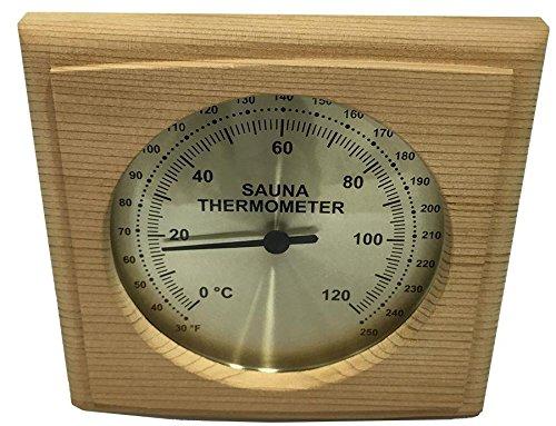 Homecraft Cedar Sauna Square Thermometer Outdoor Cedar Sauna