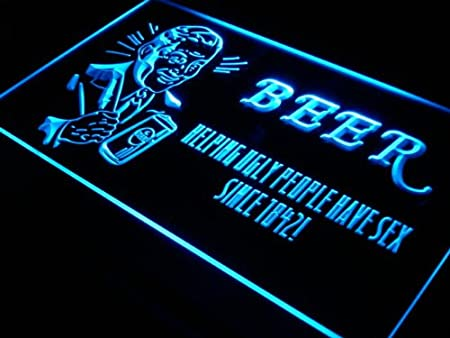 ADVPRO Cartel Luminoso j305-b Beer Helping Ugly People Have ...