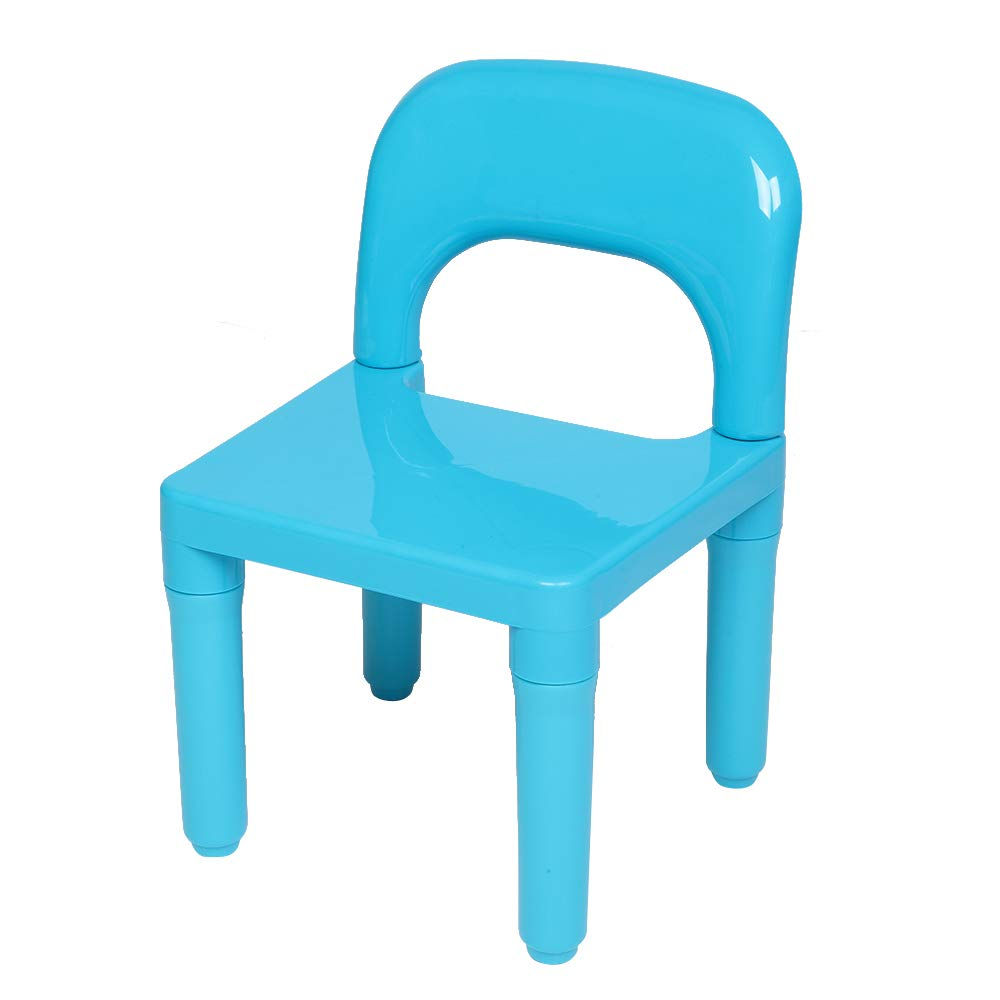 Natural Table Assorted Color Chairs Kids Activity Table Set OCHII Kids Plastic Table and Chair Set Learn and Play Activity School Home Furniture for Toddler Children Childrens Study Table Set