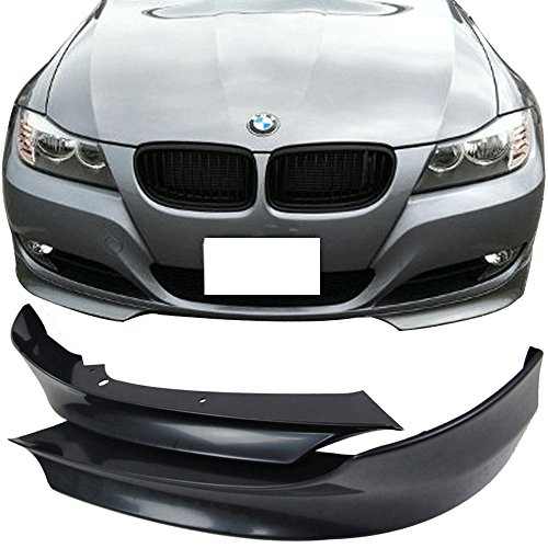 Fits 2009-2011 BMW 3 Series E90 LCI OE Style Unpainted PP Front Splitter Lip Spoiler - Other Color Available