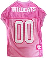 Pets First Collegiate Kansas State Wildcats Dog Jersey, Small, Pink
