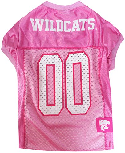 NCAA Kansas State Wildcats Dog Pink Jersey, X-Small. - Pet Pink Outfit.