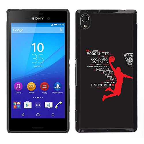 [Neutron-Star] Snap-on Series Plastic Back Case Shell Skin Cover for Sony Xperia M4 Aqua [Basketball Hero Success Succeed - Polycarbonate Belkin Case