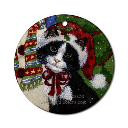 Christmas Santa Cat Ornament