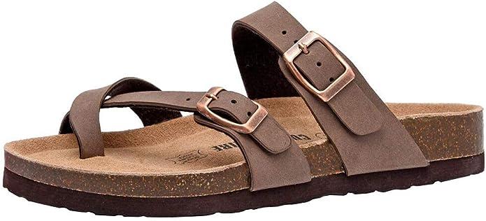 CUSHIONAIRE Women's Luna Cork Footbed Sandal with +Comfort   Amazon