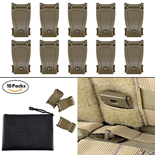 BOOSTEADY Multipurpose MOLLE Clip Tactical Strap Management Tool Web Dominator Buckle for Tactical Bag, Backpack (Buckles Strap Web)
