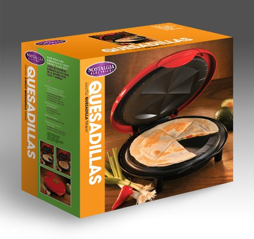082677218063 - Nostalgia EQM200 6-Wedge Electric Quesadilla Maker with Extra Stuffing Latch carousel main 4