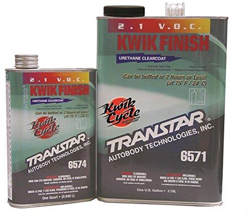 TRANSTAR (6571) 2.1 Clear Coat Kwik Finish - 1 Gallon by TRANSTAR (Image #1)