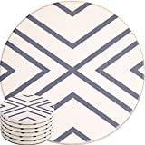 ENKORE Absorbent Coasters For Drinks - LARGE