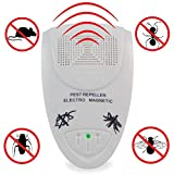 Seicosy Indoor Electronic Ultrasonic Pest Repeller Reject Anti Mosquito Repeller Ant Spider Roache Repelling Repellent