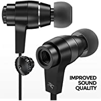 Access Sentey LS-4215 Oryon Plus Black Earbuds with Improved Sound Quality Metal Audiophile In-ear Headphones Earphones... offer