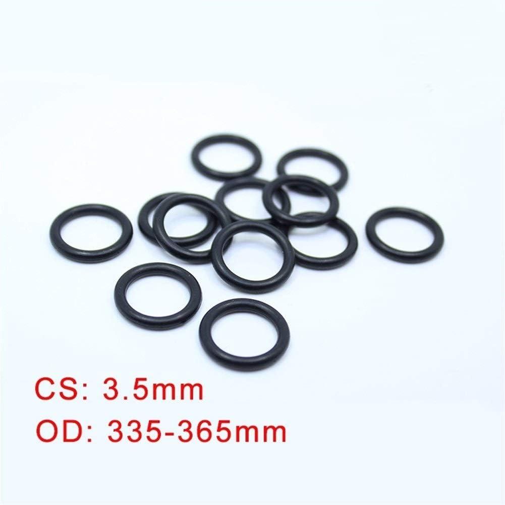 Size : OD335x3.5mm YINGJUN CS3.5mm NBR Rubber O Ring OD 335//340//345//347//350//355//360//365x3.5mm 5pcs ORing Nitrile Gasket Seal Thickness 3.5mm O-Ring Ring Gasket
