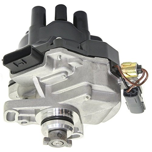 Distributor for Nissan Altima 97-01 Inc. Cap and Rotor With Rectangular 2-Prong and 6-Prong Connectors