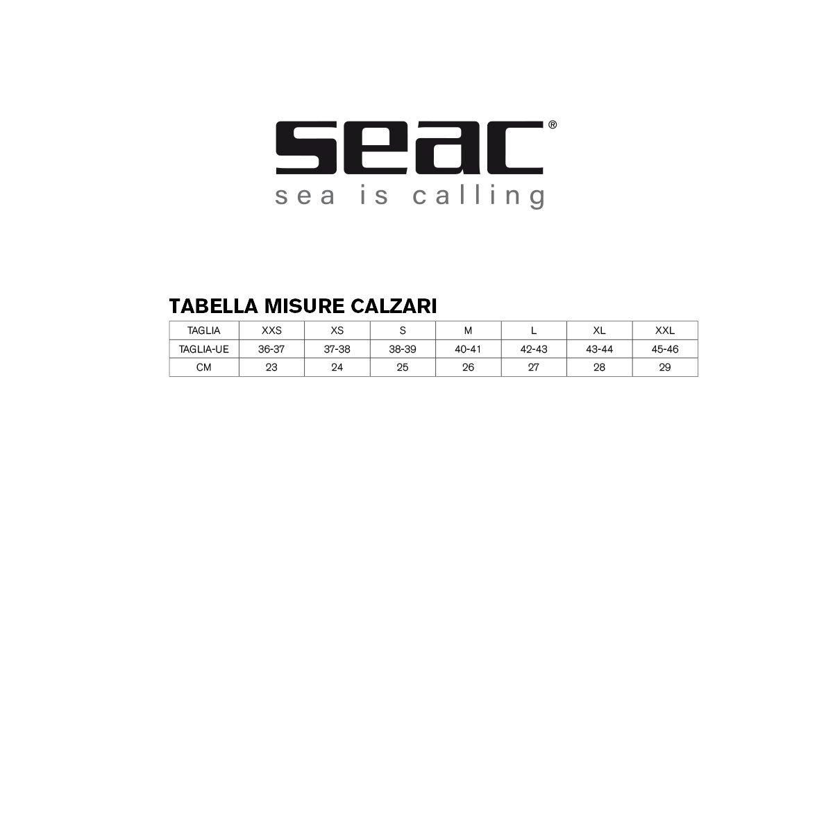 Calzari in neoprene 5mm con suola Snorkeling e tutte le Attivit/à Acquatiche e Nautiche per Diving Seac Regular
