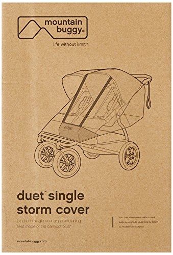 Mountain Buggy Duet Single Storm Cover, Clear
