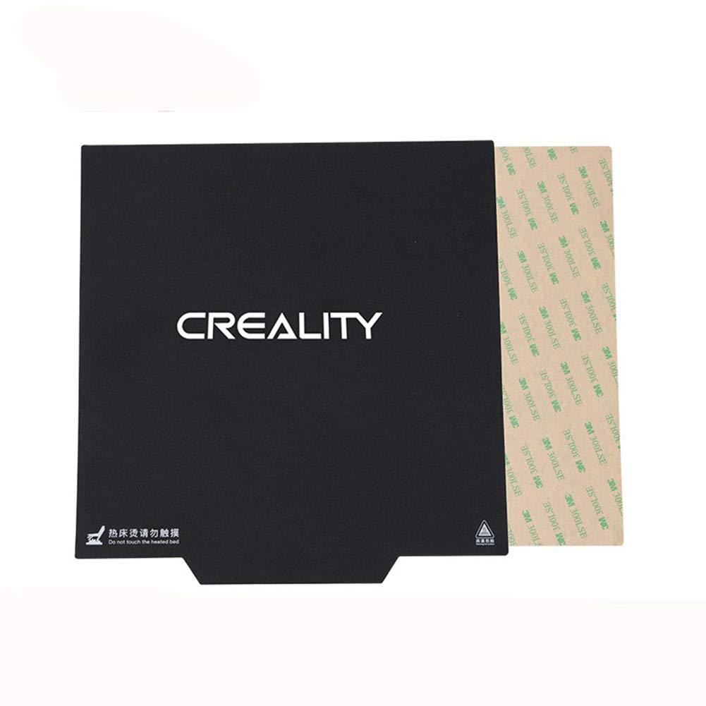 Etbotu 310x 310mm Flexible Aimant construire Plateau de surface chauffé Lit pièces magnétique Autocollant avec poignée pour Creality CR-10imprimante 3d