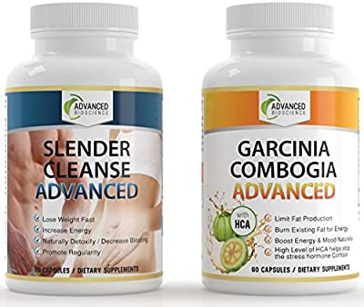 Pure Garcinia Cambogia Extract PLUS Detox Cleanse SYSTEM! - Get FAST RESULTS For The Price Of 1 - High HCA - 100% Satisfaction Guarantee - Hit 'ADD TO CART'