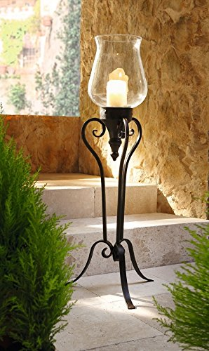 Favorite Amazon.com: Large Floor Standing Metal and Glass Hurricane Candle  YK09