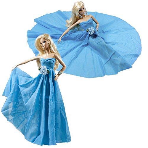 holiday barbie blue dress - 6