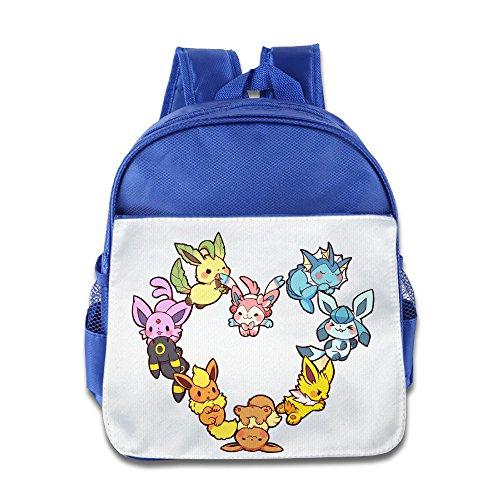 (MoMo Unisex Eevee Family Heart Kids School Backpack For Little Kids)