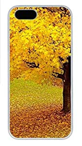 iPhone 5S Case, iPhone 5S Cases - Autumn Forest Polycarbonate Hard Case Back Cover for iPhone 5/5S White