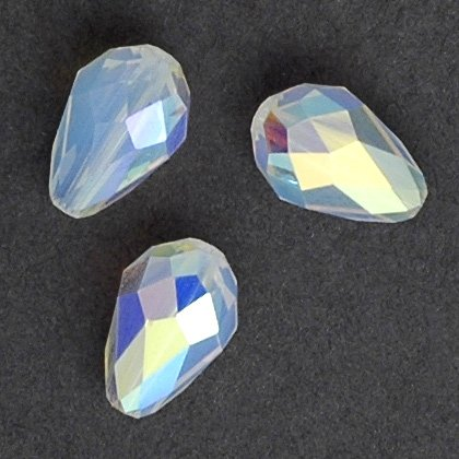 24 pcs 9x6mm Swarovski Crystal 5500 TearDrop Beads, White Opal AB, SW-5500 - Ab Swarovski Crystal Drop Bead