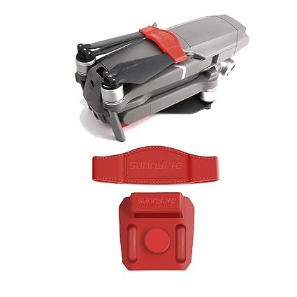 Tineer Propeller Fixel Padel Clip Soporte de Cuchilla Proteger Paddle Clip Kit para dji Mavic 2 Pro / Zoom Drone (Red)