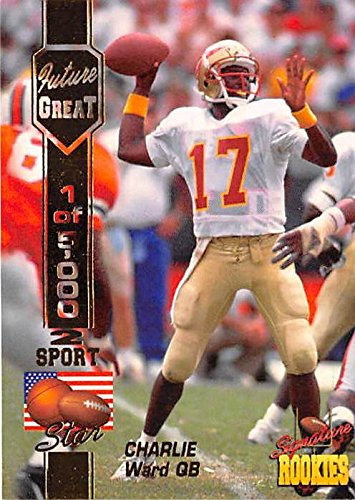 Charlie Ward football card (Florida State Seminoles Heisman Winner) 1994 Signature Rookies #C1