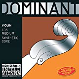Thomastik-Infeld 135B.34 Dominant Violin Strings, Complete Set, 135B, 3/4 Size, With Chrome Steel Ball End E String
