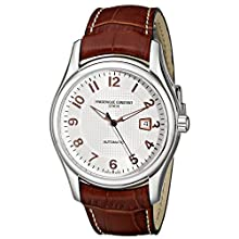 Men's Brown Leather Strap Watch FC-303RV6B6