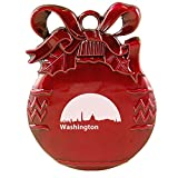 Washington, D.C., Capital of the USA-Christmas Tree Ornament-Red
