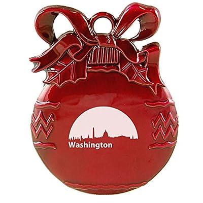 Washington, D.C., Capital of the USA-Christmas Tree Ornament-Red