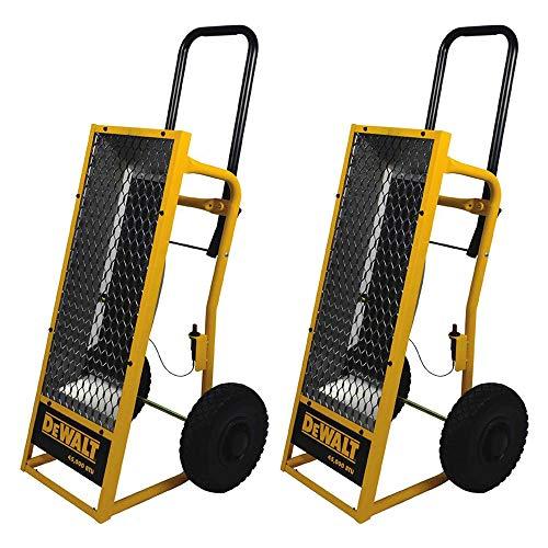 Dewalt Heavy Duty 45000 BTU Radiant Heat Propane Portable Work Job Site Heater (2 Pack)