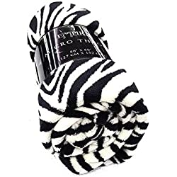 "Empire Super Soft Plush Animal Print Throw Blanket Light Multi Purpose 50"" X 60"" (Black & White Zebra)"