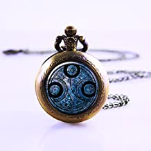 Time Lord Seal Pendant Pocket Watch , Dr Who Necklace Pocket Watch Charm, Dr Who Pendant Pocket Watch Time Lord Jewelry, Time Travel Pocket Watch