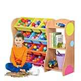 Toy Storage Organizer with Color Plastic Bins Shelf Drawer for Kid's Bedroom Playroom (Color : Primary Color, Size : 126cm)