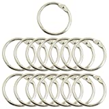 Uxcell Metal Photo Album Loose Leaf Rings, 1.5-Inch Outer Diameter, 15-Pieces