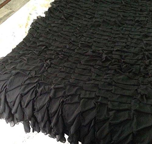 Chiffon Layered Decorative Full Bedspread by DecorWithShams