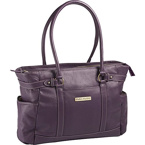 clark-mayfield-hawthorne-leather-173-laptop-handbag-computer-tote-bag-in-purple