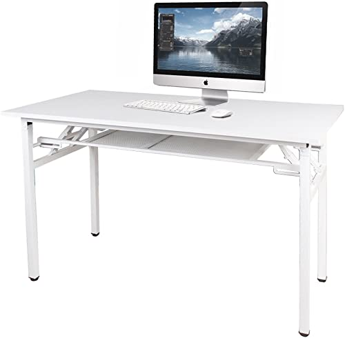 DlandHome 47 inches Computer Desk Office Table Activity Table Writing Desk Study Table Folding Table