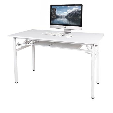 Need Mesa Plegable 120x60cm Mesa de Ordenador Escritorio de Oficina Salas de Conferencia Mesas de Recepción Mesa de Formación,blanco ,AC7DW