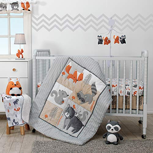 Bedtime Originals Acorn 3-Piece Crib Bedding Set - Gray, Animals, Woodland