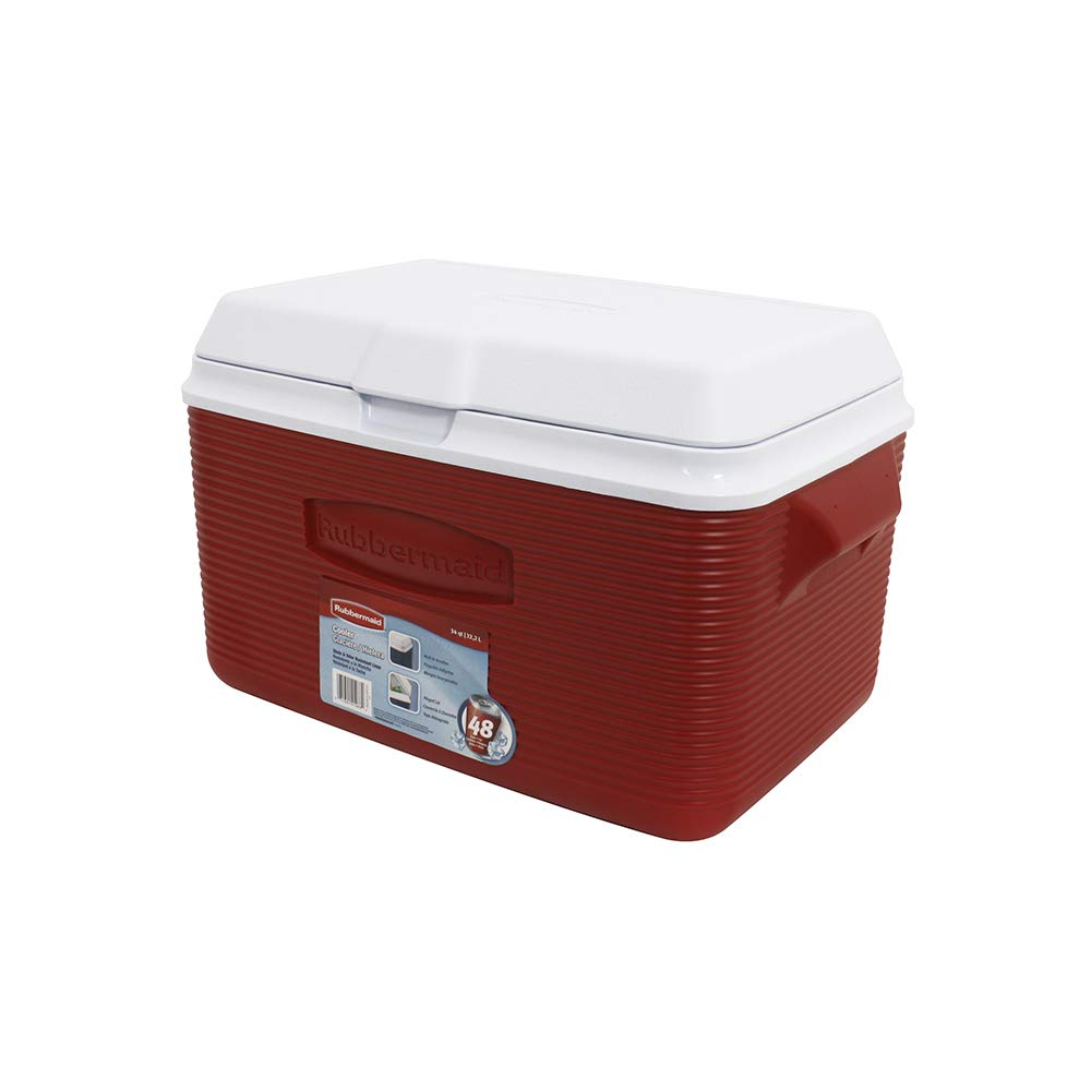 Rubbermaid FG2A2002MODRD Victory Ice Chest/Cooler, 34-Quart by Rubbermaid