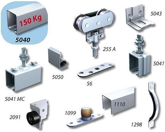 U-perfil SPORTUB 150 kg, herrajes para puerta corrediza: Amazon.es: Bricolaje y herramientas